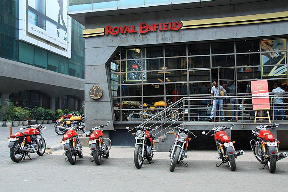 Royal Enfield Showroom Saket press shot