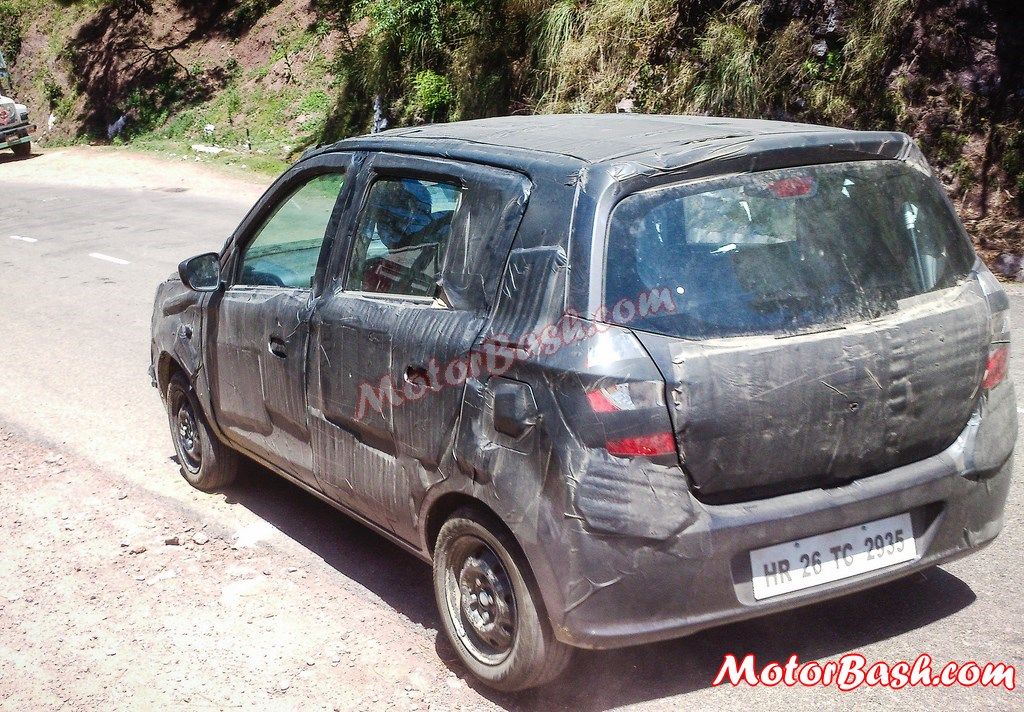 Spied Maruti Alto 800 facelift taillights