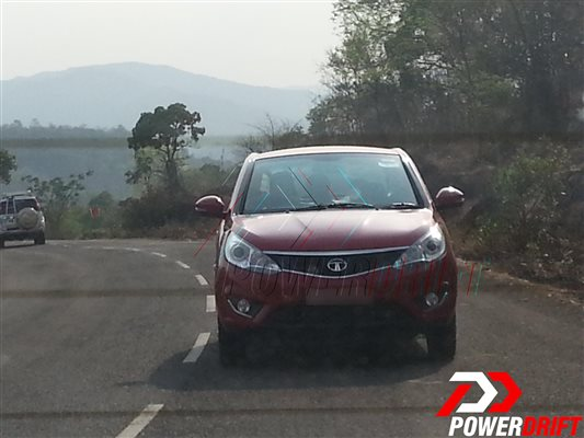 Spied Tata Zest uncamouflaged front