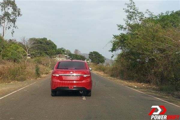 Spied Tata Zest uncamouflaged rear