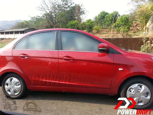 Spied Tata Zest uncamouflaged side