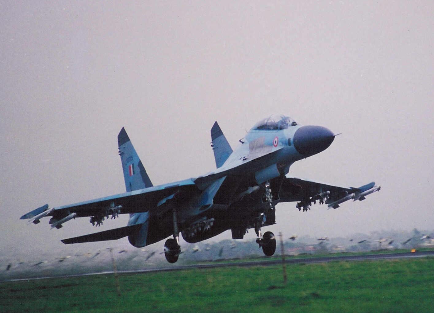 Sukhoi aircraft take off