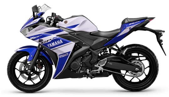 Yamaha YZF-R25 racing blue color