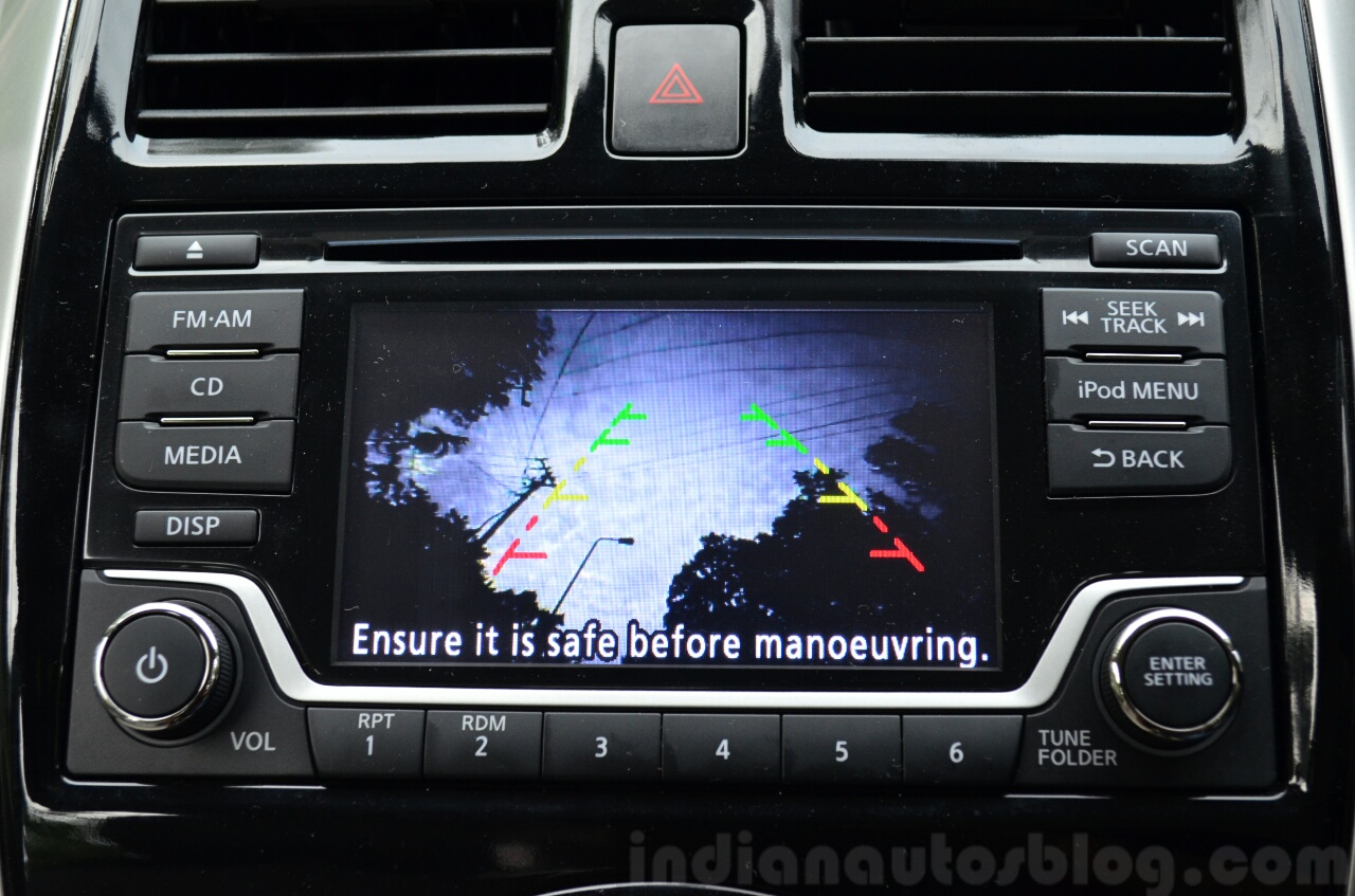 2014 Nissan Sunny facelift diesel review reverse camera