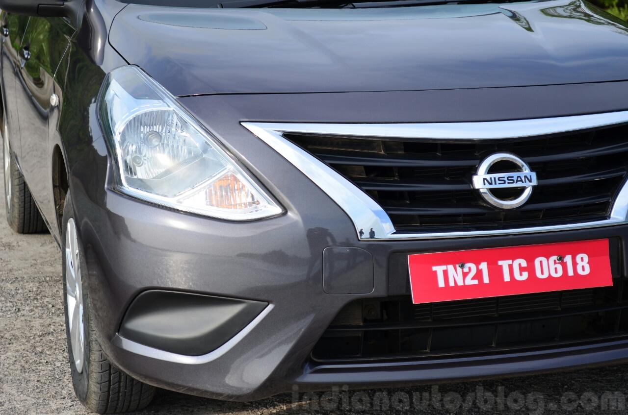 2014 Nissan Sunny facelift petrol CVT review front fascia