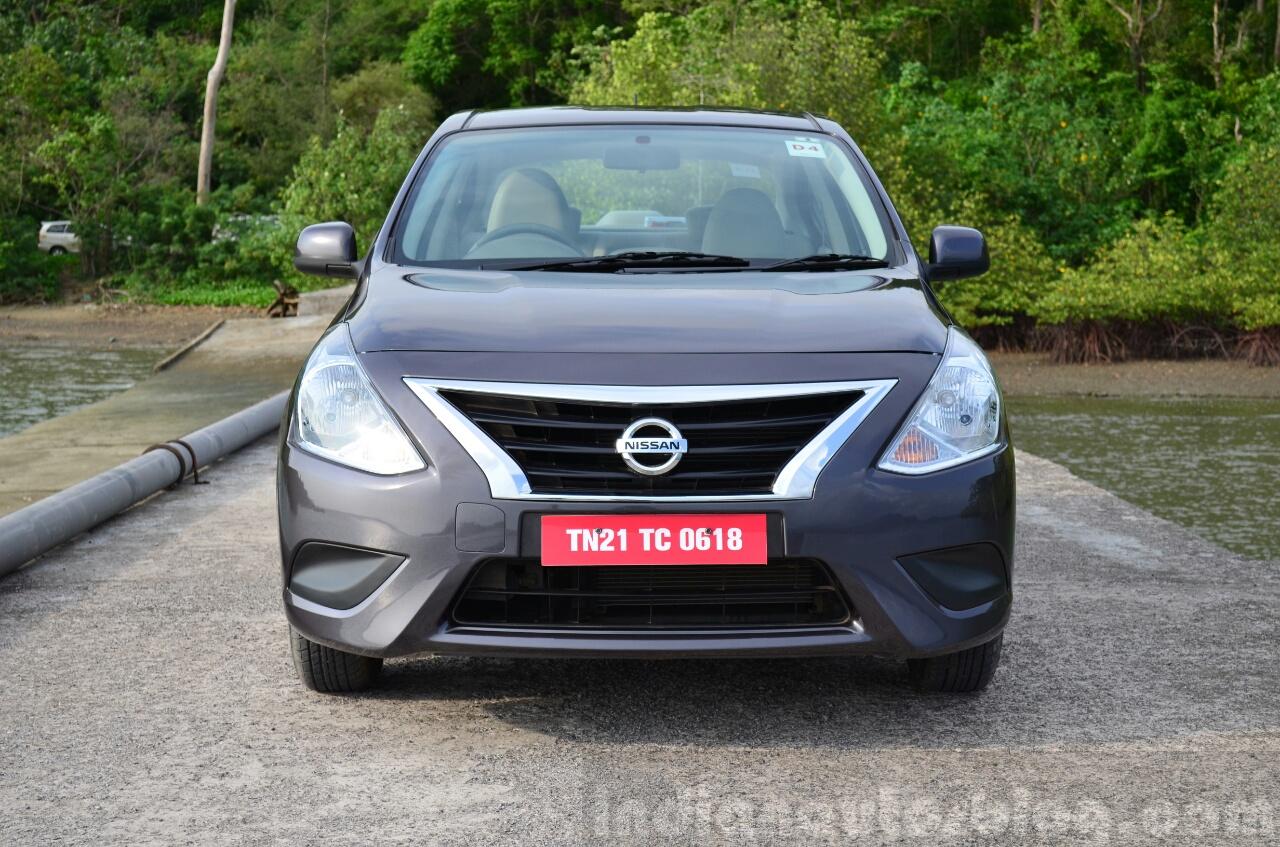 2014 Nissan Sunny facelift petrol CVT review front