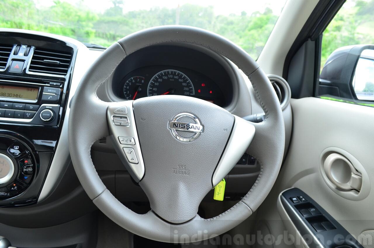 2014 Nissan Sunny facelift petrol CVT review steering