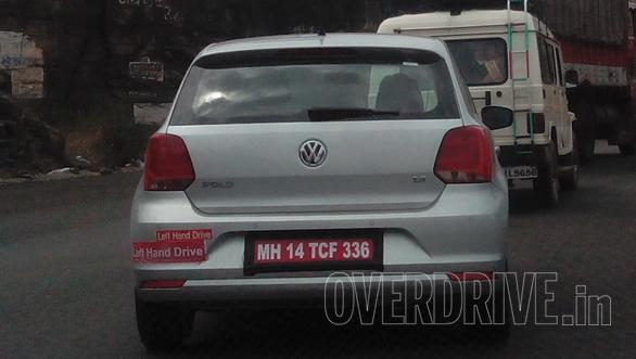 2014 VW Polo facelift export model spied rear