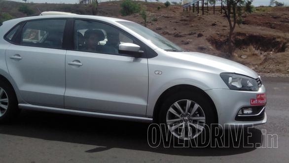 2014 VW Polo facelift export model spied side