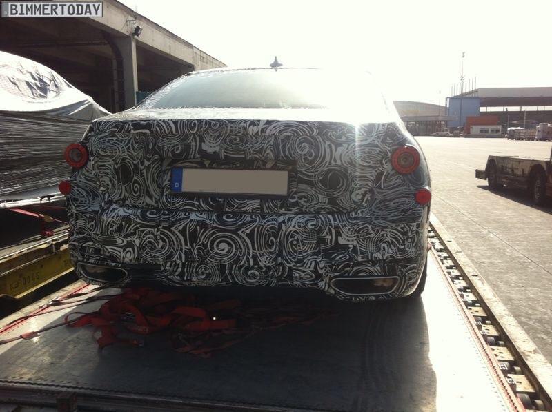 2016 BMW 7 Series G11 rear spyshot