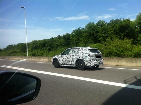 2016 BMW X1 spied in Europe rear