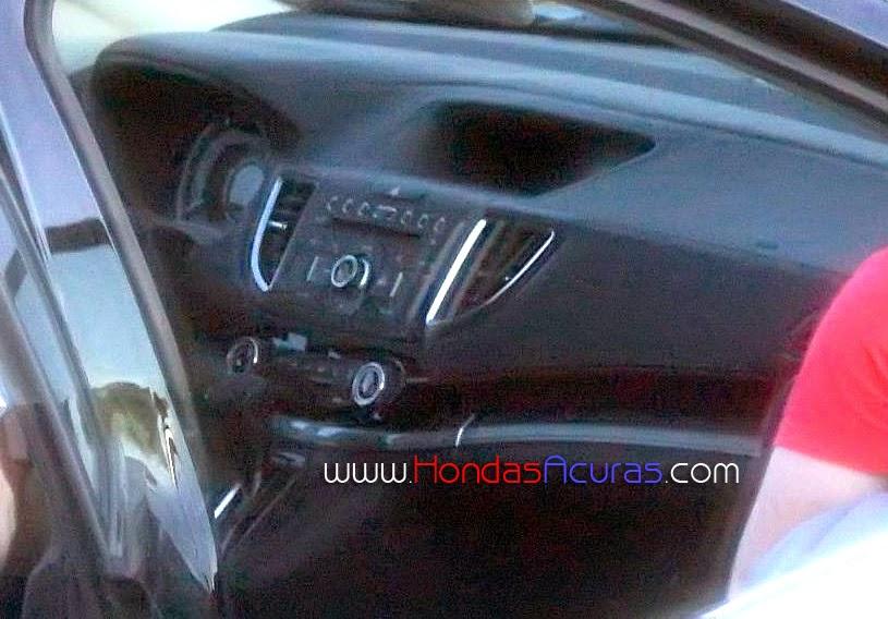 Honda CR-V facelift interior spied