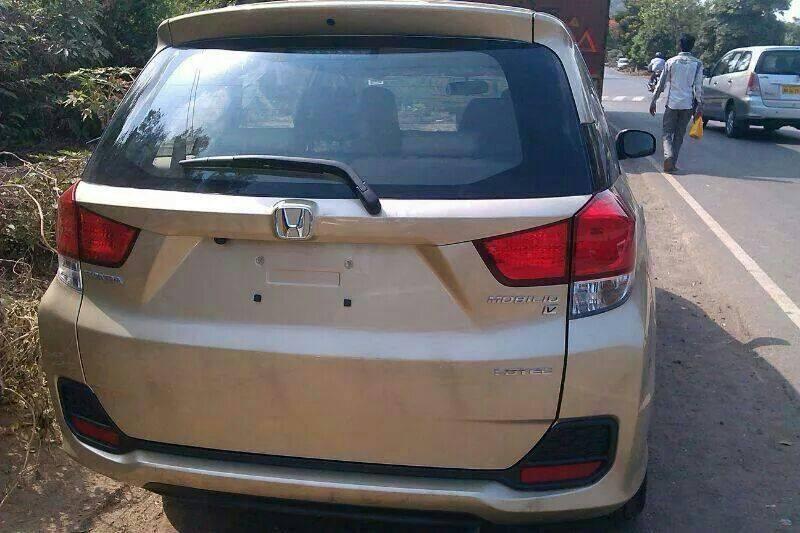 Honda Mobilio Spied in India rear