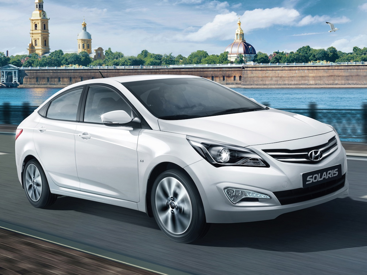 Hyundai Solaris Facelift Russia Press Shots Front Quarter