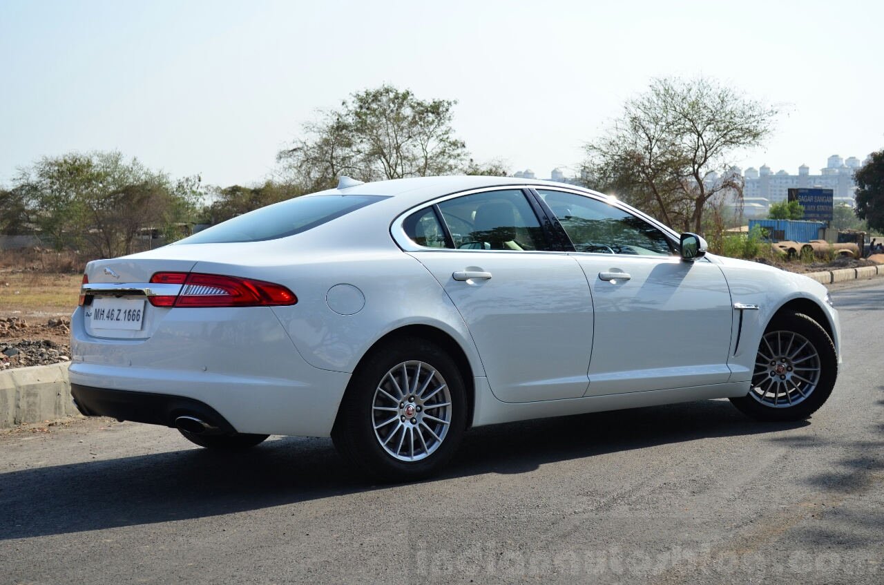 Jaguar XF 2.0L Petrol Review rear quarter