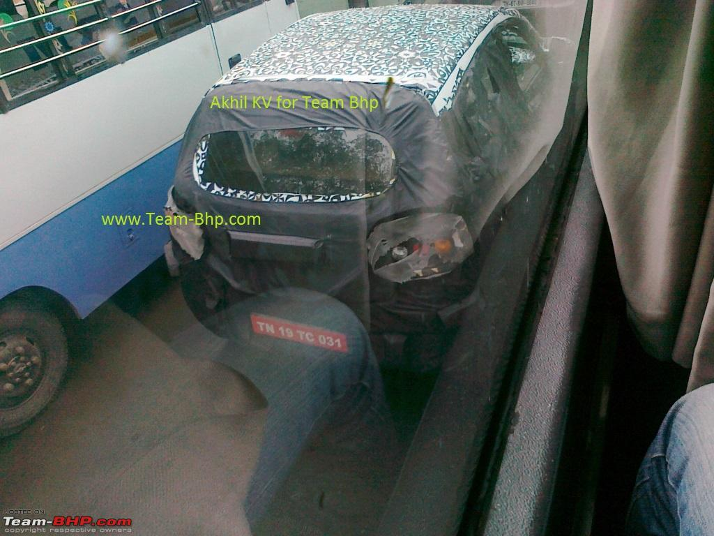 Mahindra S101 top view spyshot from Chennai