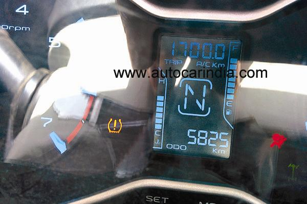 2014 Mahindra Scorpio refresh spy information display