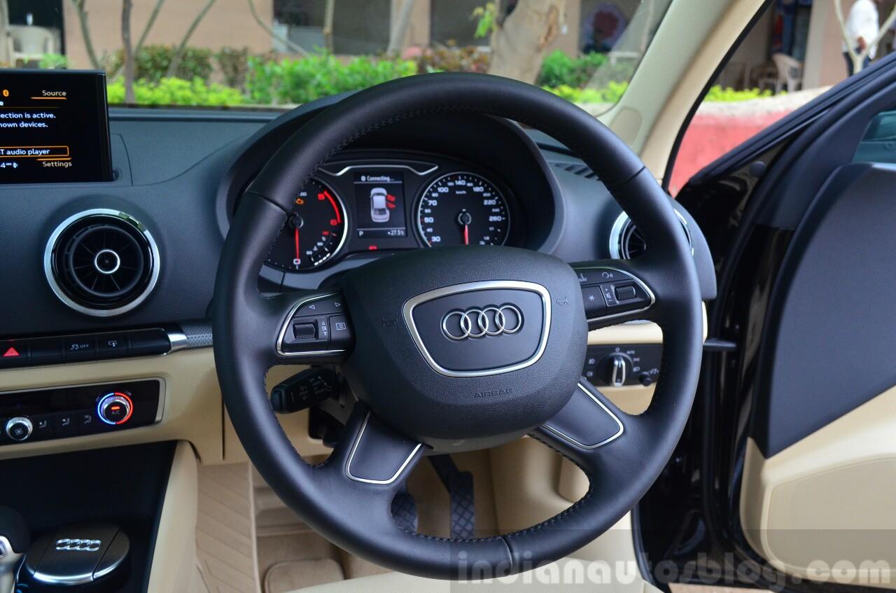 Audi A3 Sedan Review steering