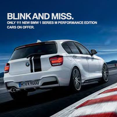 BMW 1 Series M Performance Edition India press shot rear
