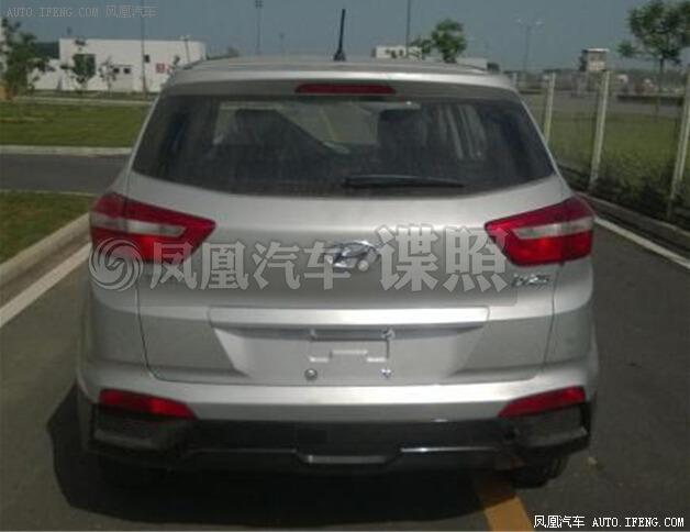 Hyundai ix25 production model spied rear