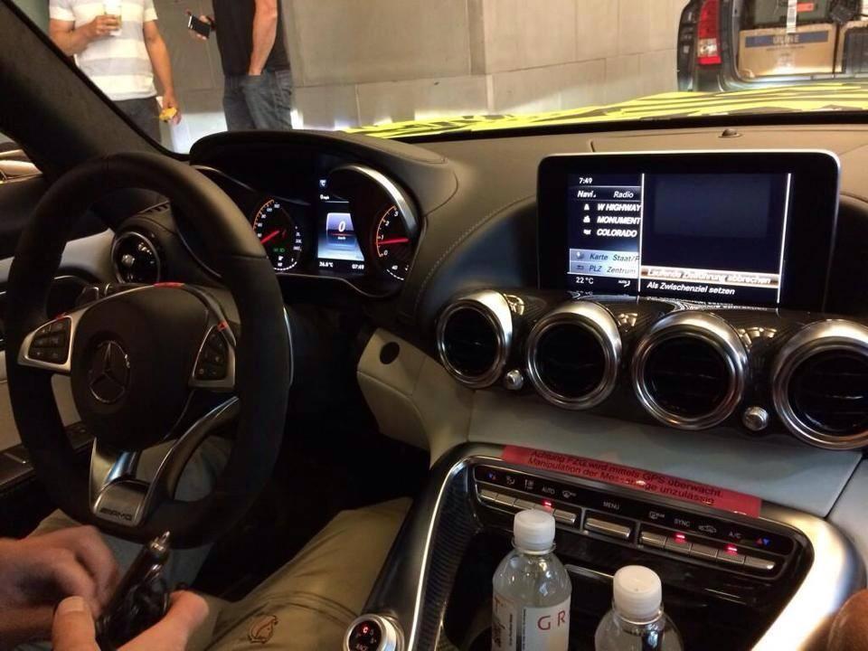 Mercedes AMG GT interior spied