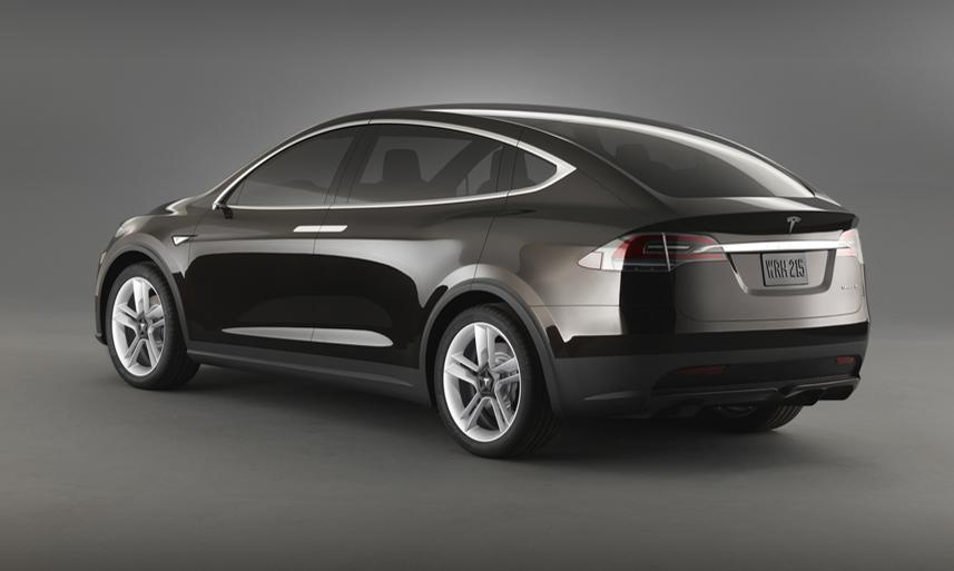 Tesla Model X rear three quarters official image