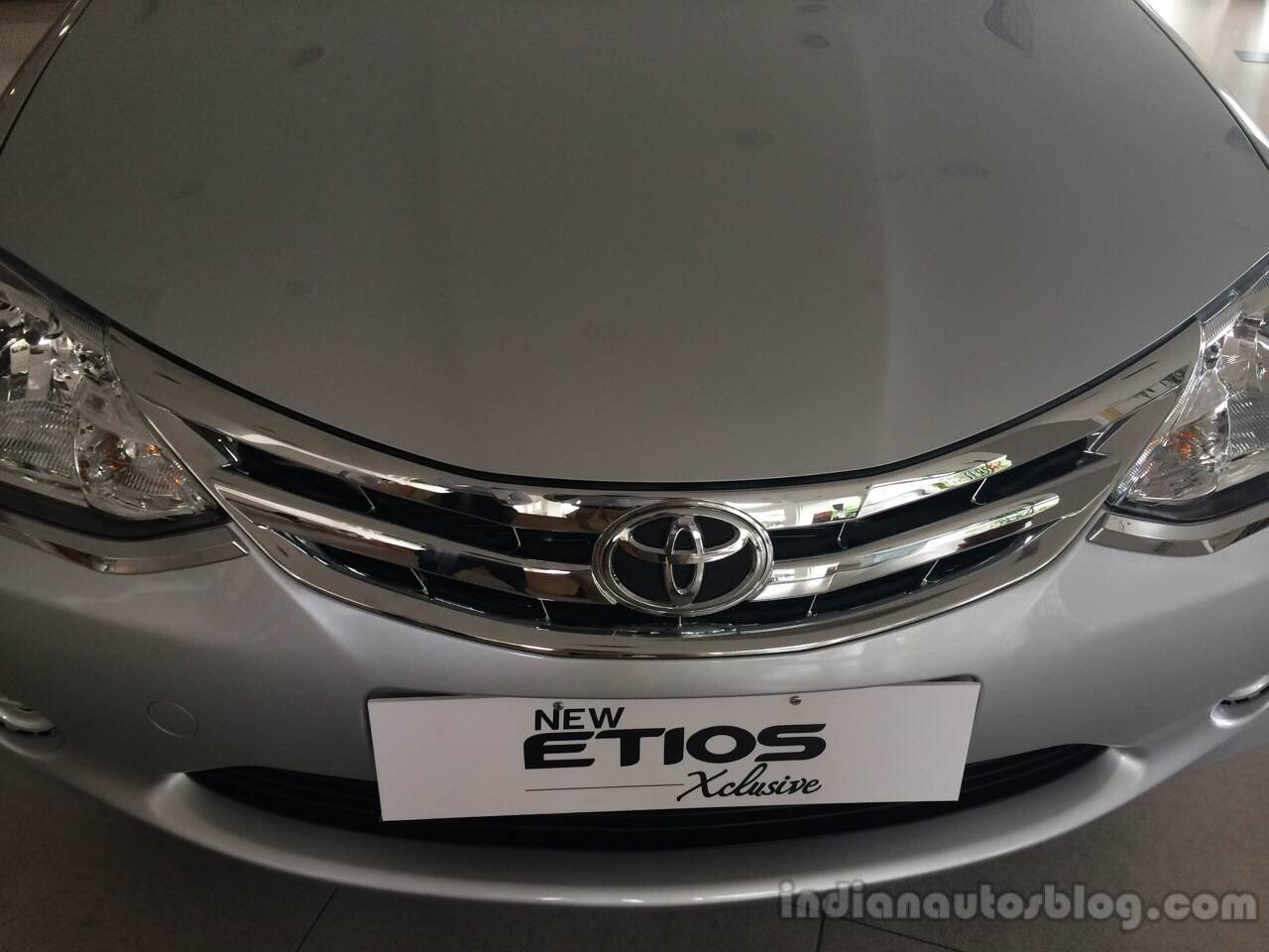 Toyota Etios Xclusive Edition live shots grille