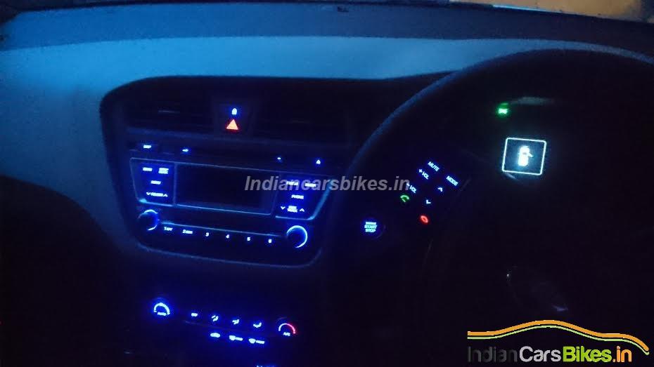 2015 Hyundai Elite i20 interior spied illuminated
