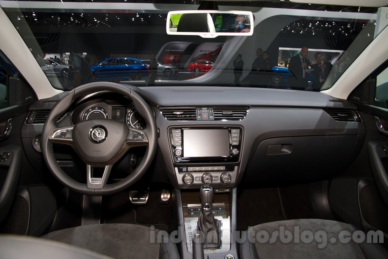 2015 Skoda Octavia Scout interior at the 2014 Moscow Motor ...