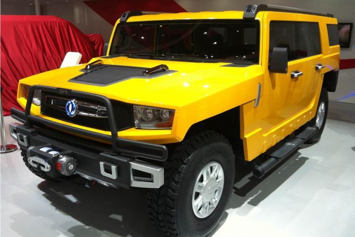 Dongfeng EQ2050 is a reverse engineered Chinese Hummer H3