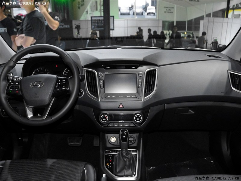 Hyundai ix25 production interior version at Chengdu Auto Show