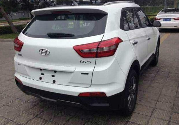 Hyundai ix25 white spied in South Korea