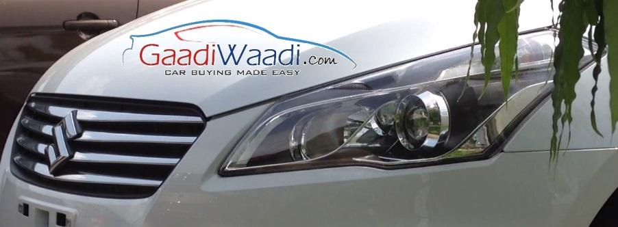 Maruti Ciaz production spied headlight