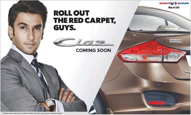 Maruti Ciaz teaser ad with Ranveer Singh