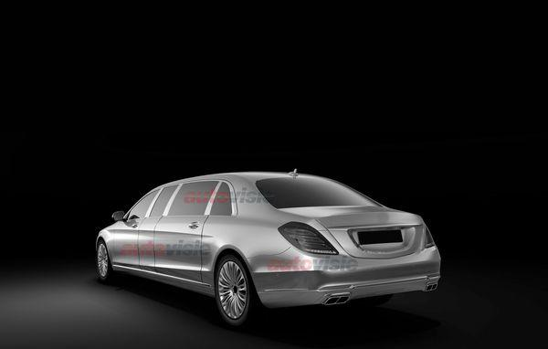 Mercedes S Class Pullman rear three quarters patent leak