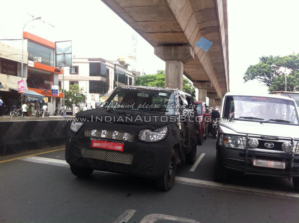 New Mahindra U301 Bolero spied front