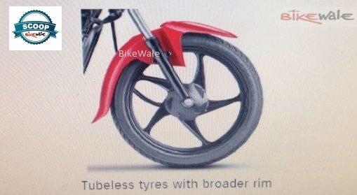 New Suzuki Hayate tubeless tyres