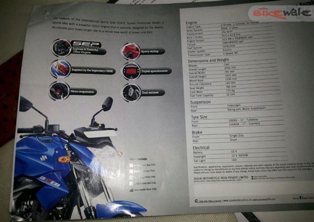 Suzuki Gixxer specifications