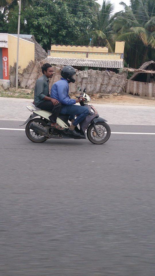 TVS Dazz bebek spied in India side view