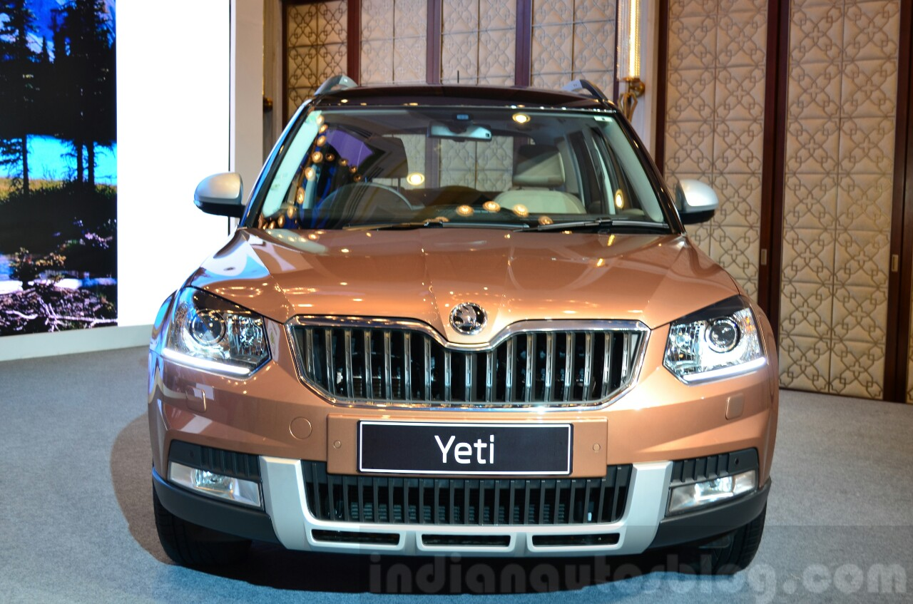 2014 Skoda Yeti facelift launch front