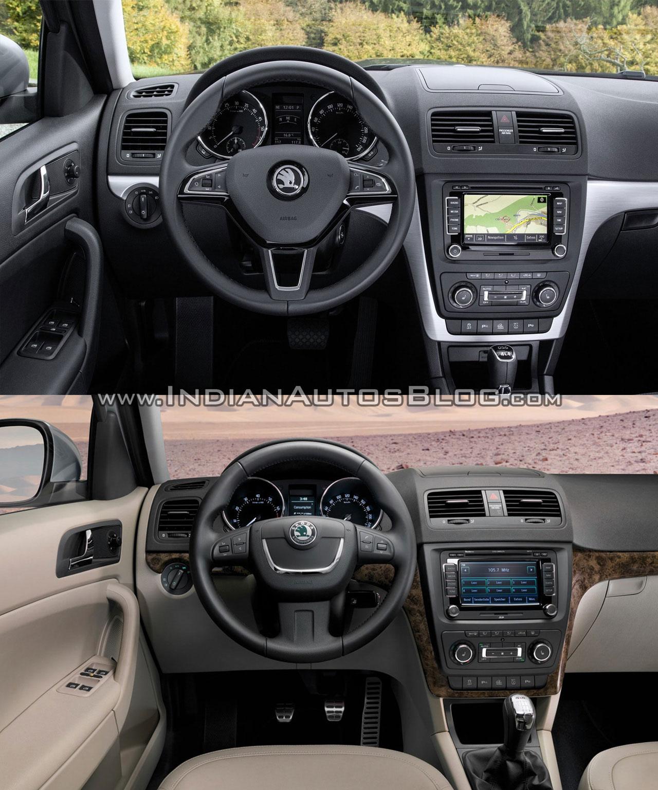 2014 Skoda Yeti facelift vs old Skoda Yeti interior