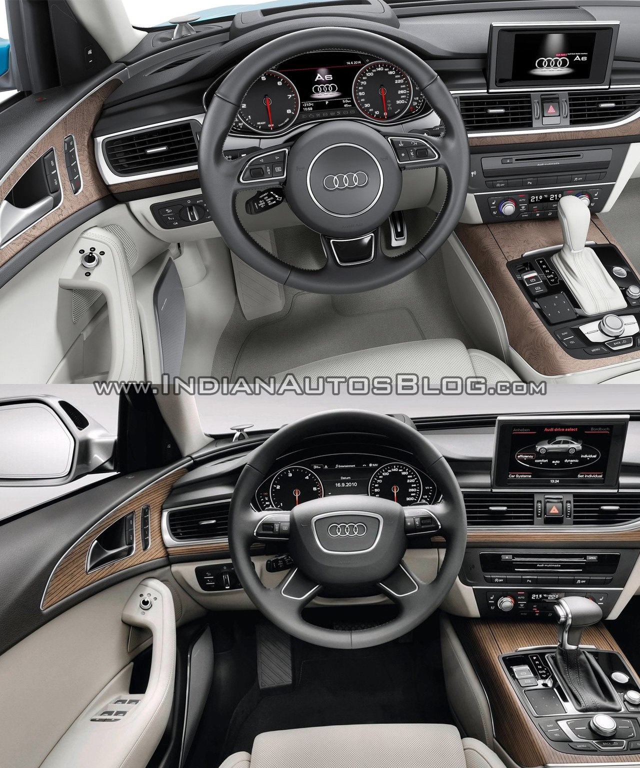 Old Vs New 2015 Audi A6 Vs Pre Facelift Model