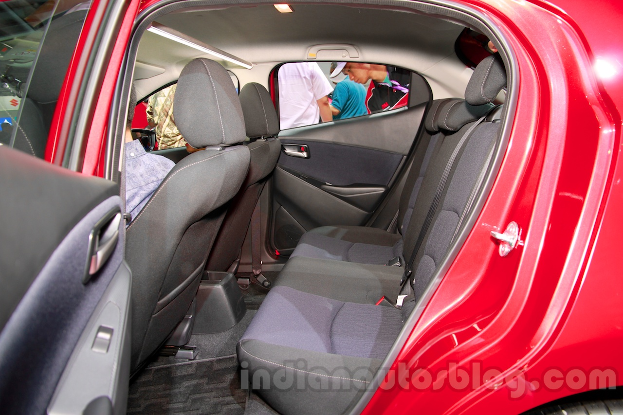 2015 Mazda2 at the 2014 Indonesia International Motor Show rear seat