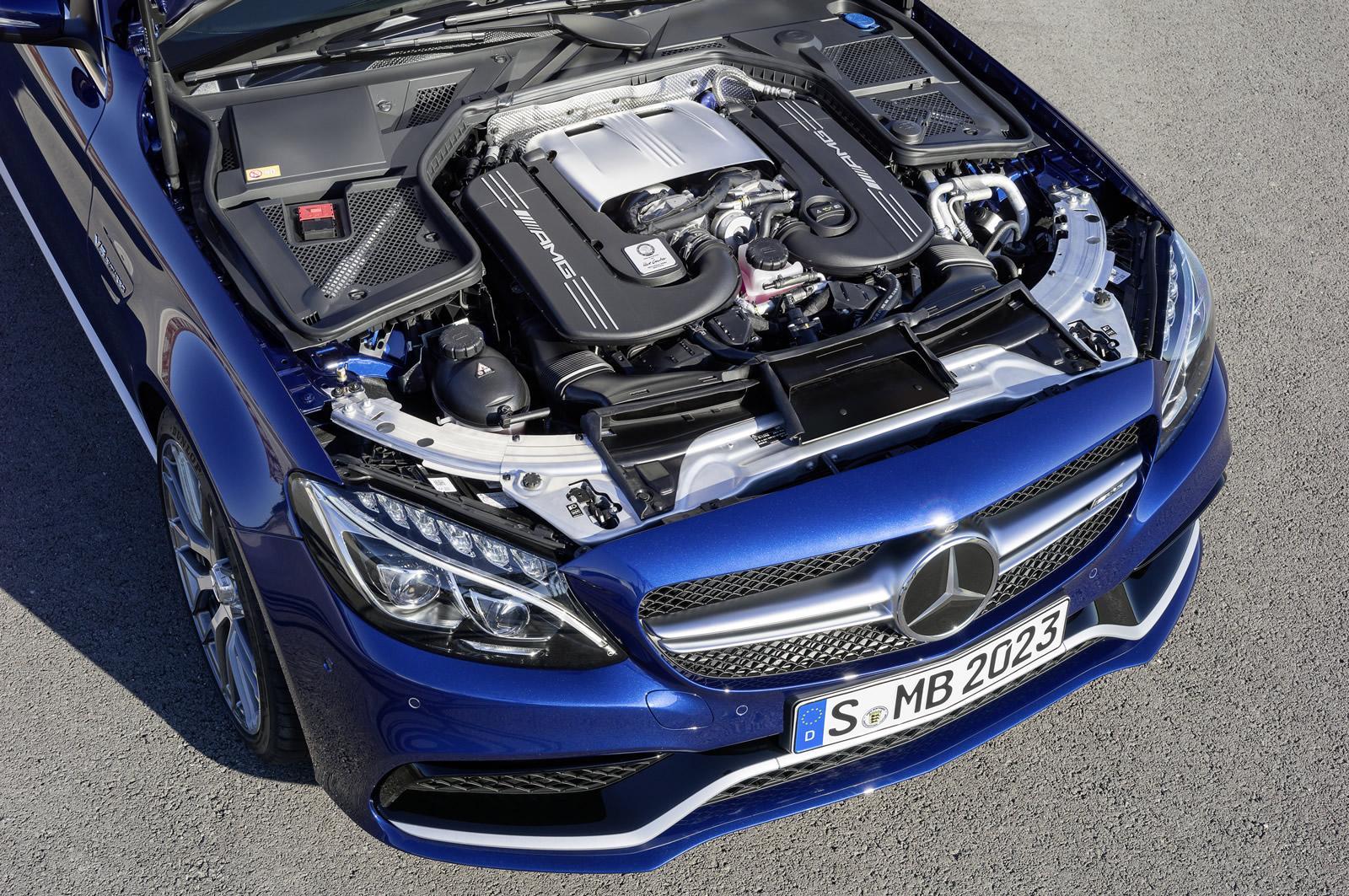 2015 Mercedes C 63 AMG 4.0L V8 engine press image