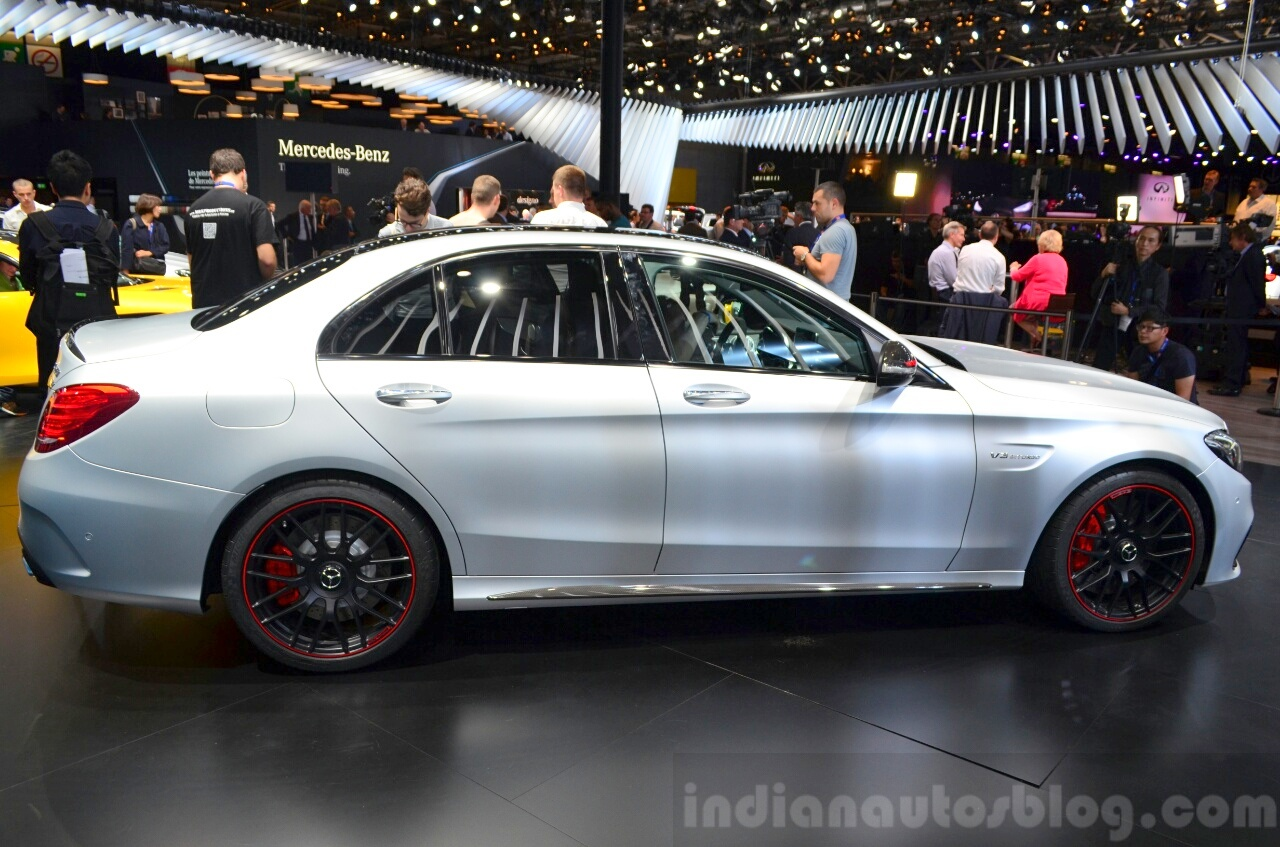 2015 Mercedes C 63 AMG side at 2014 Paris Motor Show