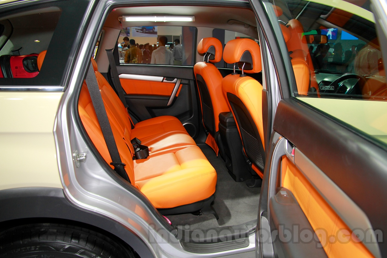 Chevrolet Captiva special edition rear seat at the 2014 Indonesia International Motor Show