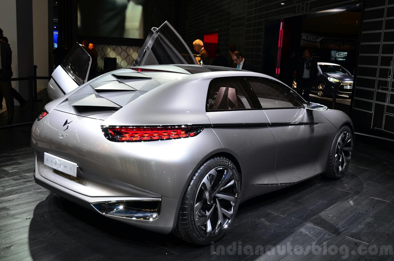 Citroen Divine DS Concept rear three quarters at the 2014 Paris Motor Show