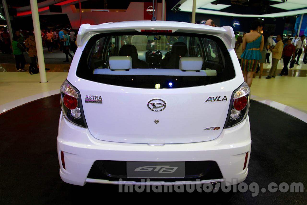 Daihatsu Ayla GT2 rear at the Indonesia International Motor Show 2014