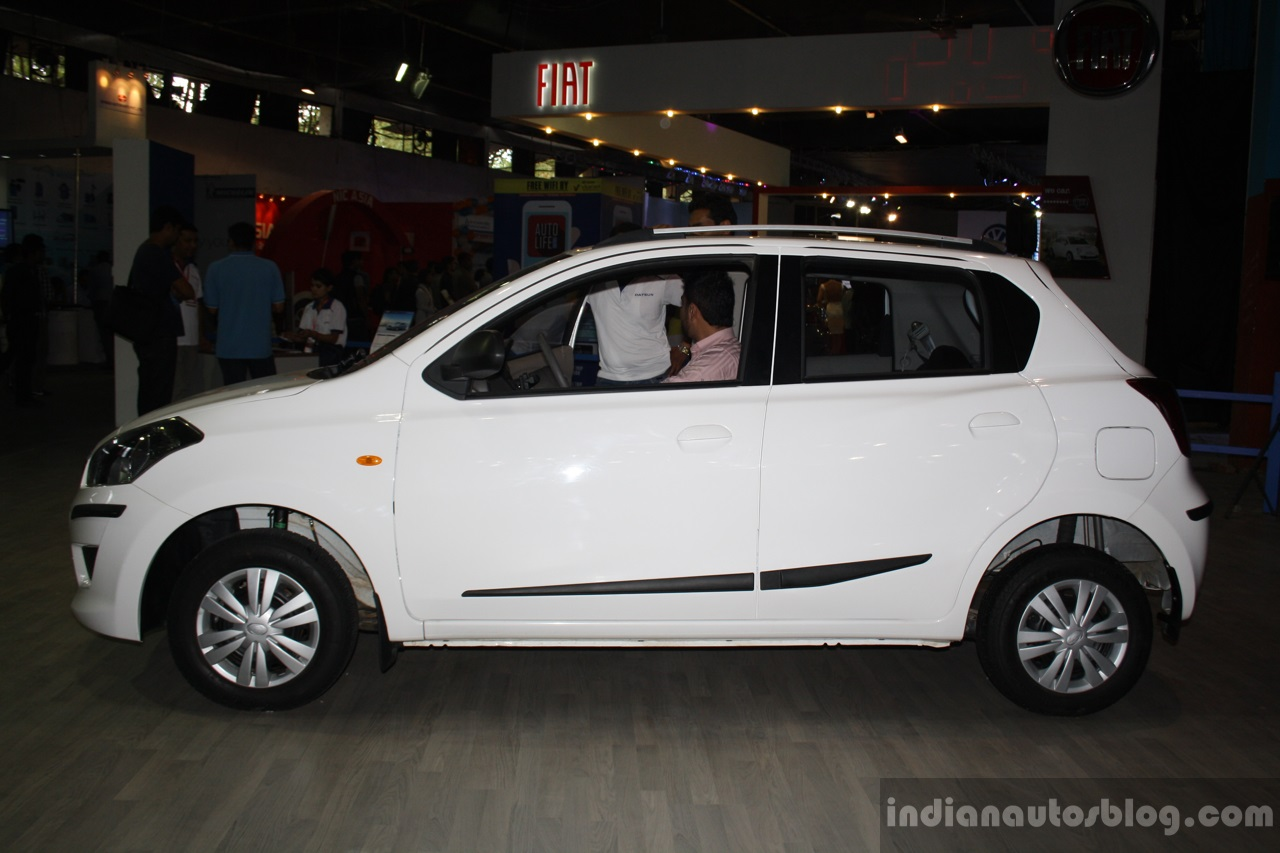 Datsun Go side at the 2014 Nepal Auto Show