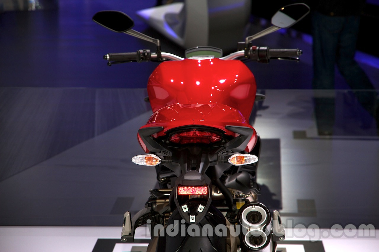 Ducati Monster 1200 rear view at the 2014 Moscow Motor Show